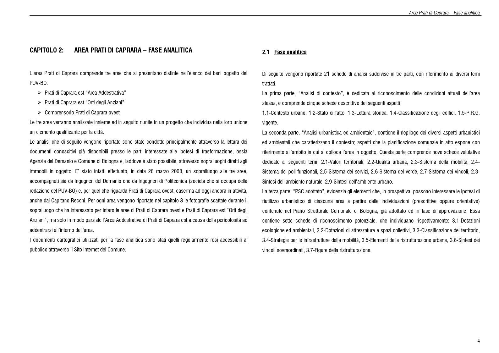 Anteprima della tesi: Progetto del parco urbano Maggiore-Caprara, Pagina 4