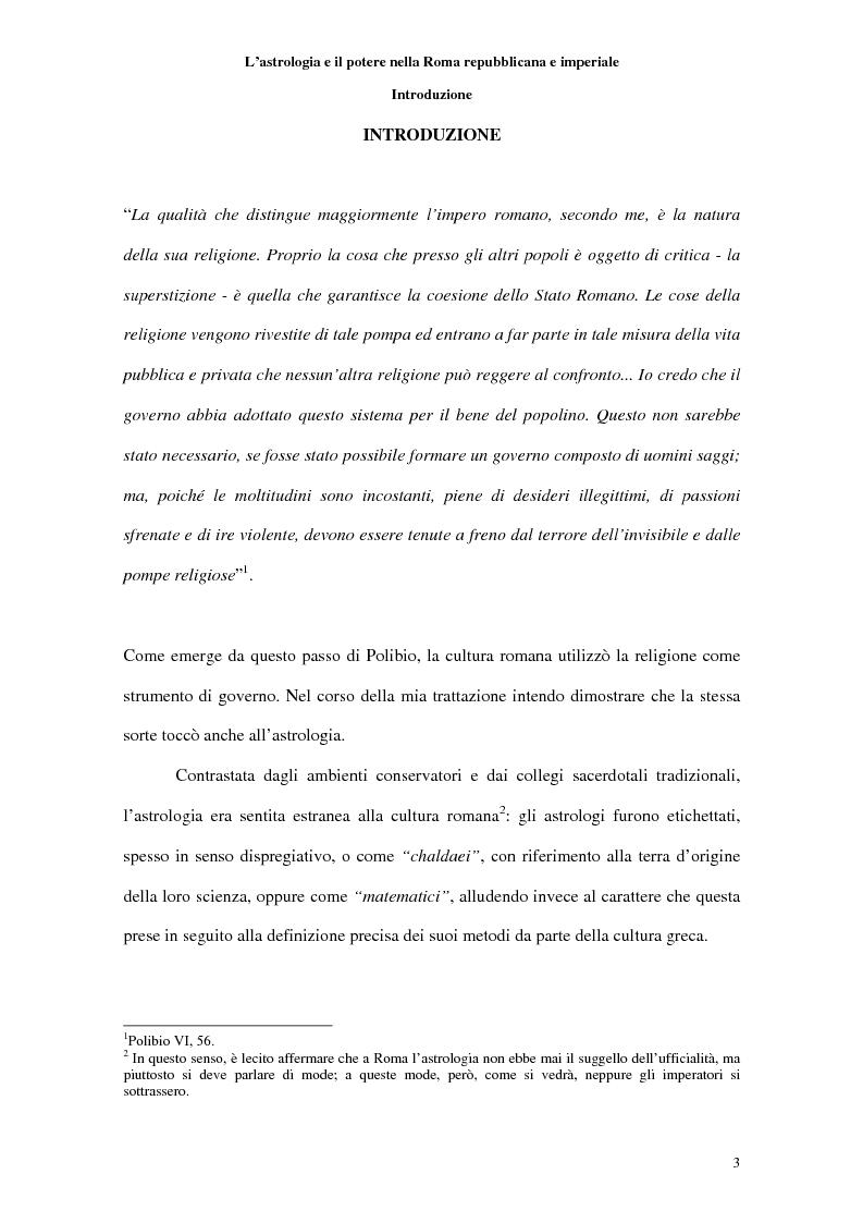 Anteprima della tesi: L'astrologia e il potere nella Roma repubblicana e imperiale, Pagina 1
