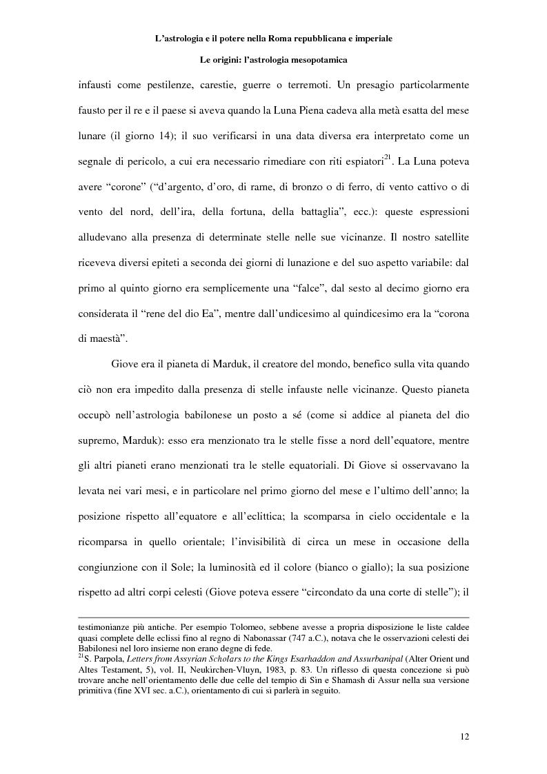 Anteprima della tesi: L'astrologia e il potere nella Roma repubblicana e imperiale, Pagina 11