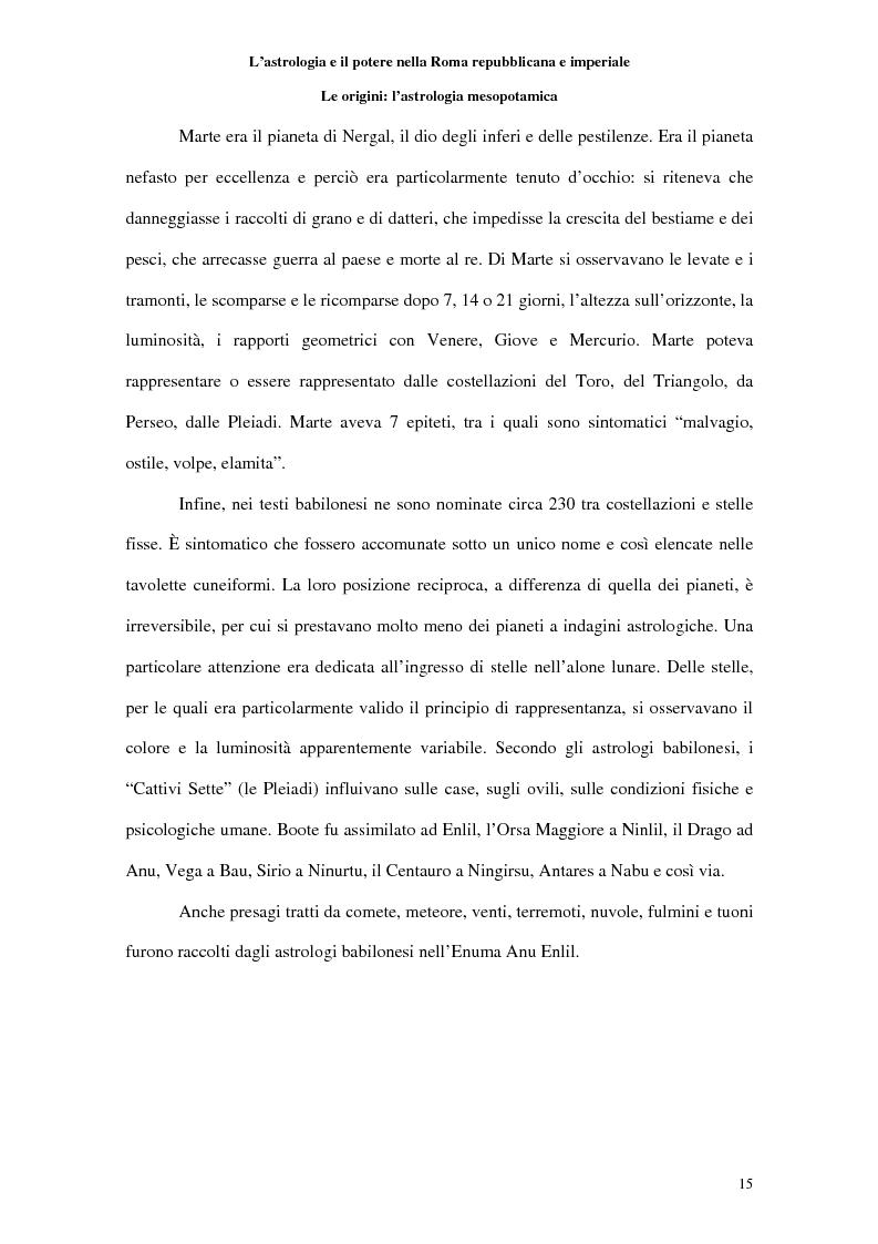 Anteprima della tesi: L'astrologia e il potere nella Roma repubblicana e imperiale, Pagina 14