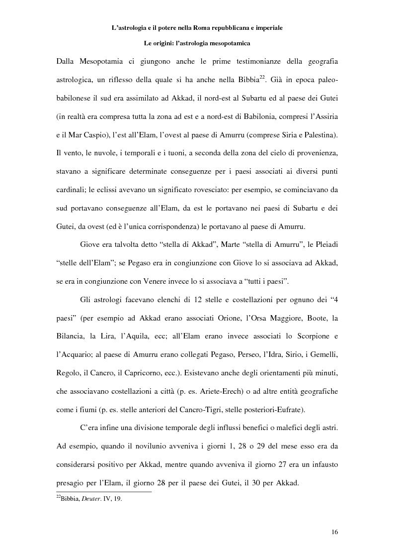 Anteprima della tesi: L'astrologia e il potere nella Roma repubblicana e imperiale, Pagina 15