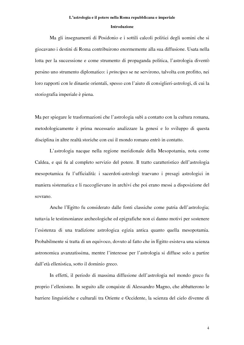 Anteprima della tesi: L'astrologia e il potere nella Roma repubblicana e imperiale, Pagina 2