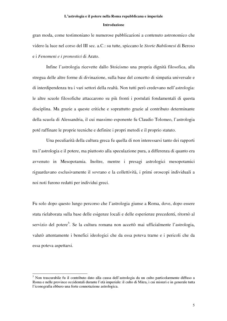 Anteprima della tesi: L'astrologia e il potere nella Roma repubblicana e imperiale, Pagina 3