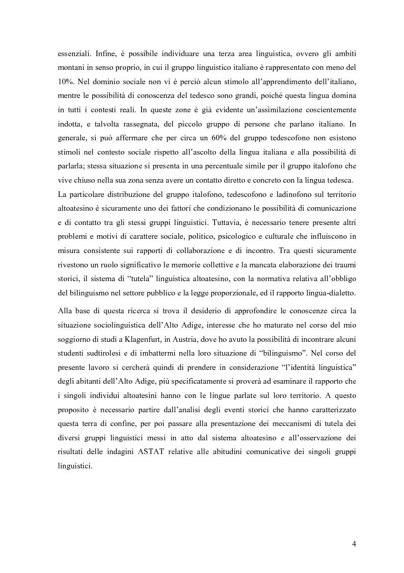 Anteprima della tesi: Lingua e identità. Il caso altoatesino., Pagina 3