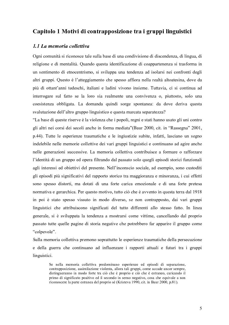 Anteprima della tesi: Lingua e identità. Il caso altoatesino., Pagina 4