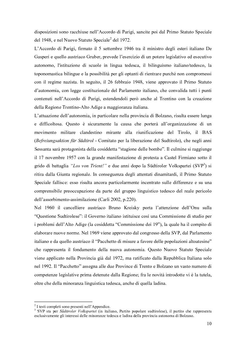 Anteprima della tesi: Lingua e identità. Il caso altoatesino., Pagina 9