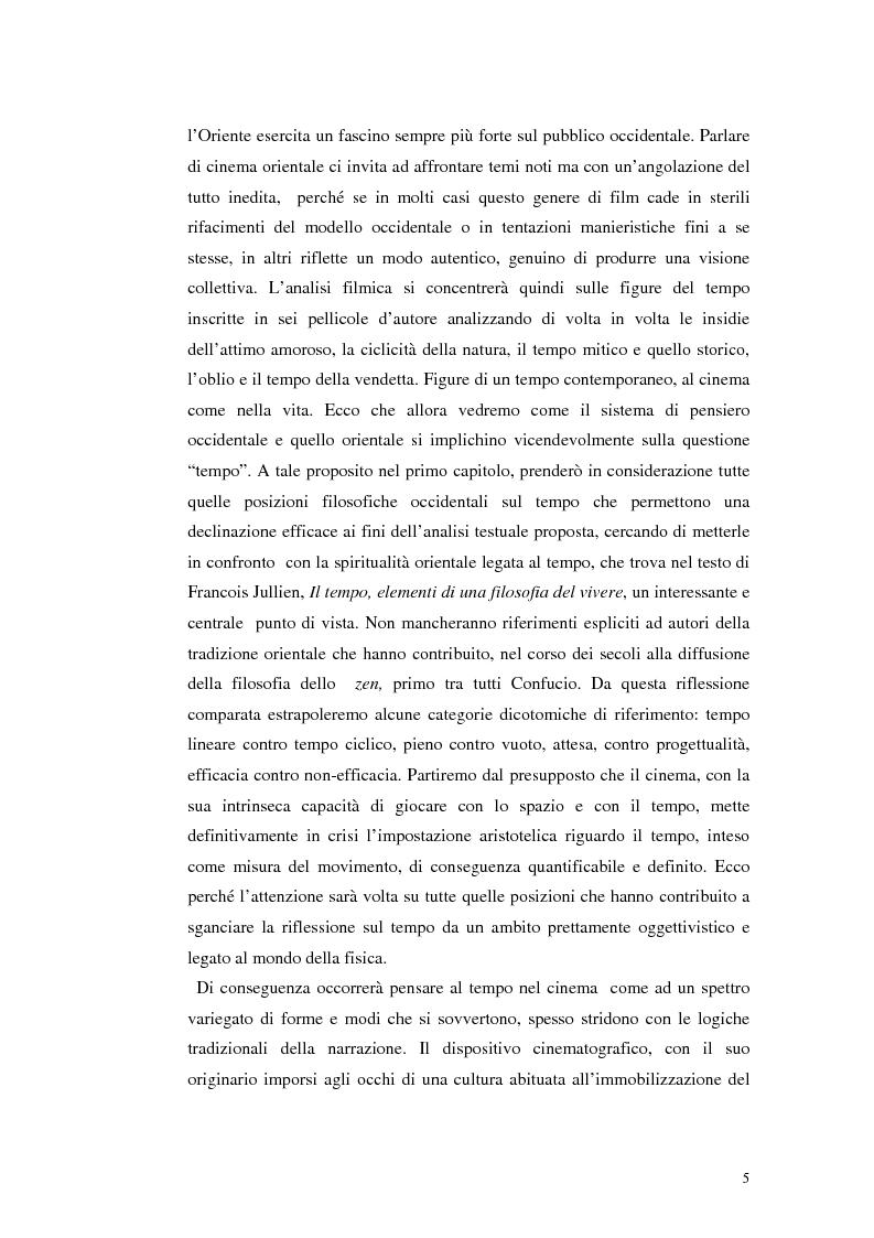 Anteprima della tesi: Il tempo nel cinema orientale contemporaneo, Pagina 3