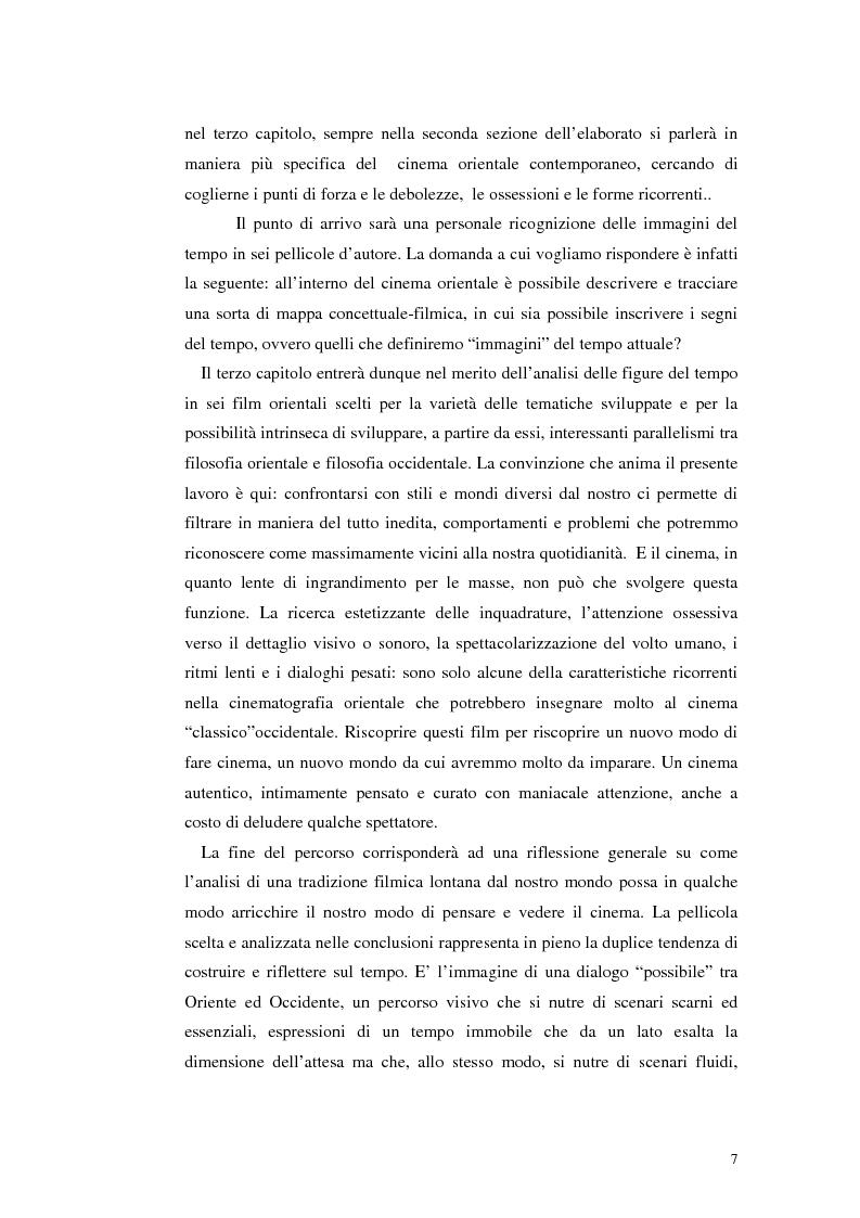 Anteprima della tesi: Il tempo nel cinema orientale contemporaneo, Pagina 5