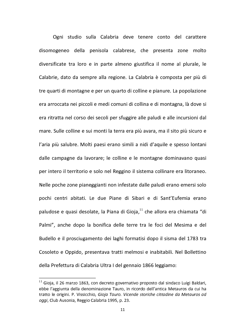 Anteprima della tesi: L'emigrazione calabrese (1880-1914): i problemi, i protagonisti, la stampa, Pagina 11