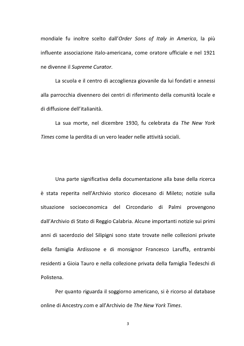 Anteprima della tesi: L'emigrazione calabrese (1880-1914): i problemi, i protagonisti, la stampa, Pagina 3
