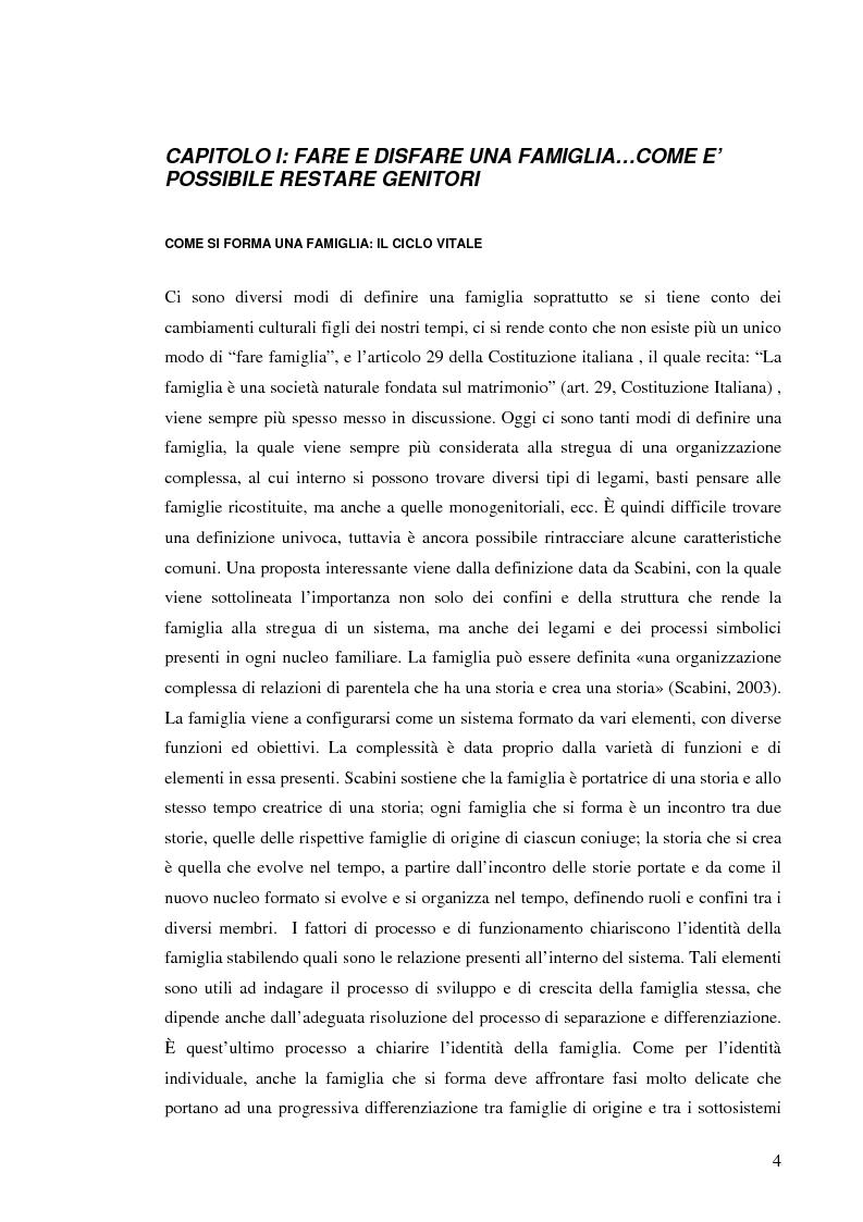 Anteprima della tesi: Figli di amori conclusi: come vivono l'esperienza del divorzio. Cosa cambia, cosa rimane, Pagina 3