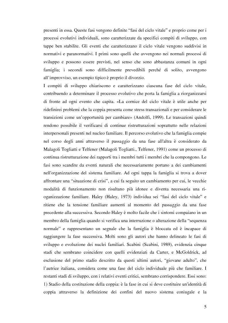 Anteprima della tesi: Figli di amori conclusi: come vivono l'esperienza del divorzio. Cosa cambia, cosa rimane, Pagina 4