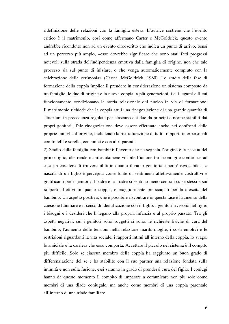 Anteprima della tesi: Figli di amori conclusi: come vivono l'esperienza del divorzio. Cosa cambia, cosa rimane, Pagina 5