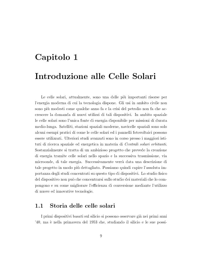 Anteprima della tesi: Celle solari ad alta efficienza in GaAs per applicazioni spaziali, Pagina 2