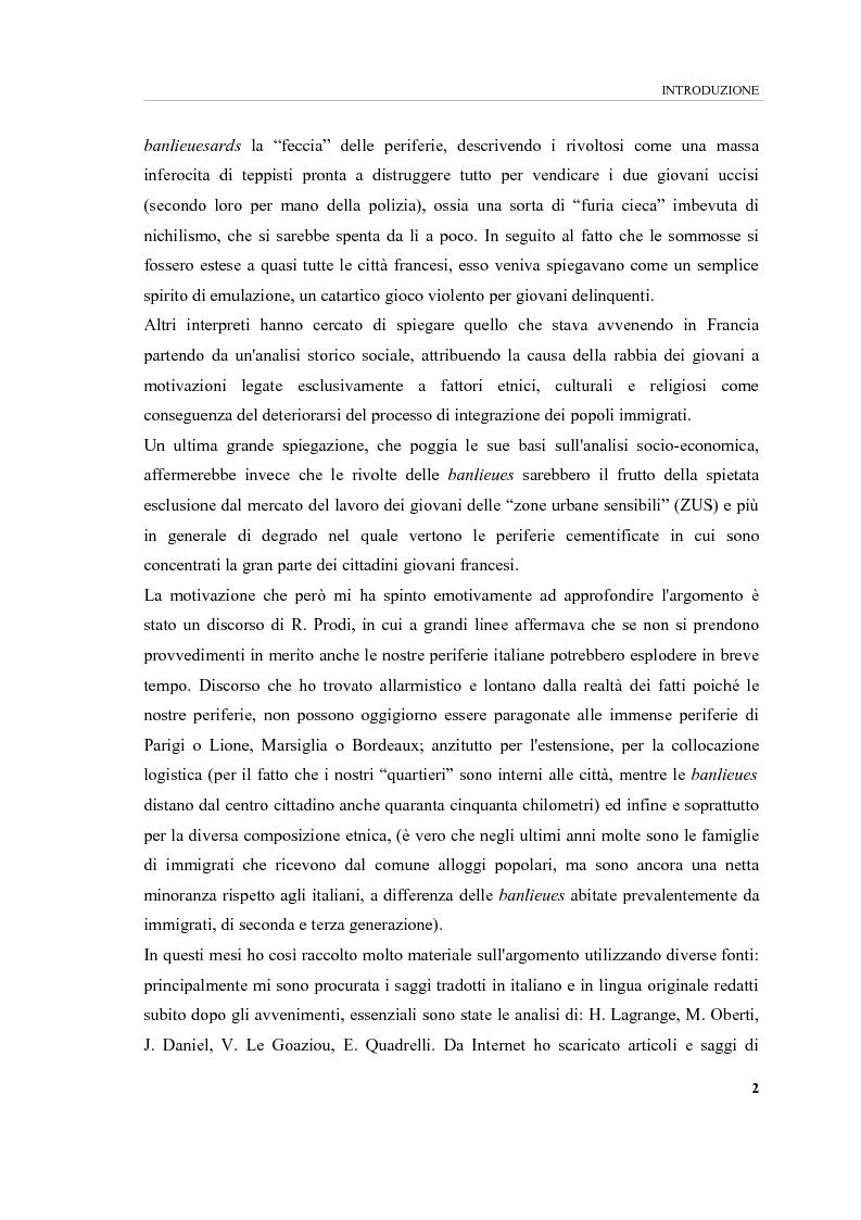 Anteprima della tesi: Banlieues: i luoghi dell'emarginazione, Pagina 2