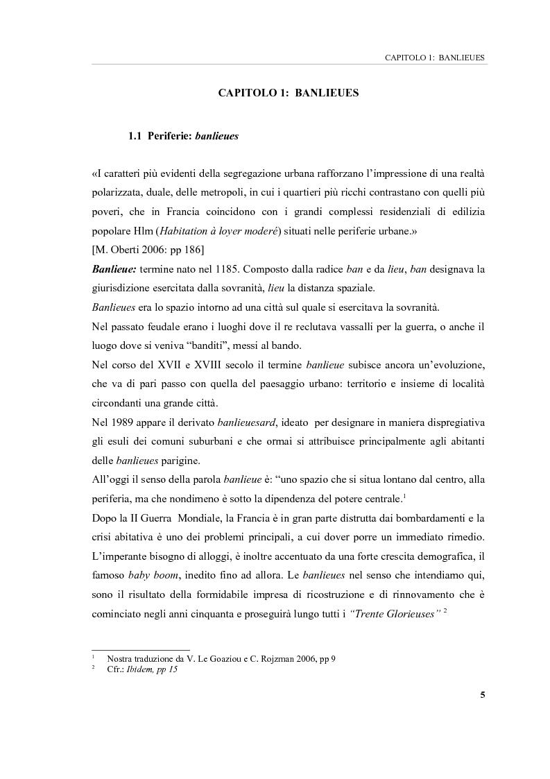 Anteprima della tesi: Banlieues: i luoghi dell'emarginazione, Pagina 5