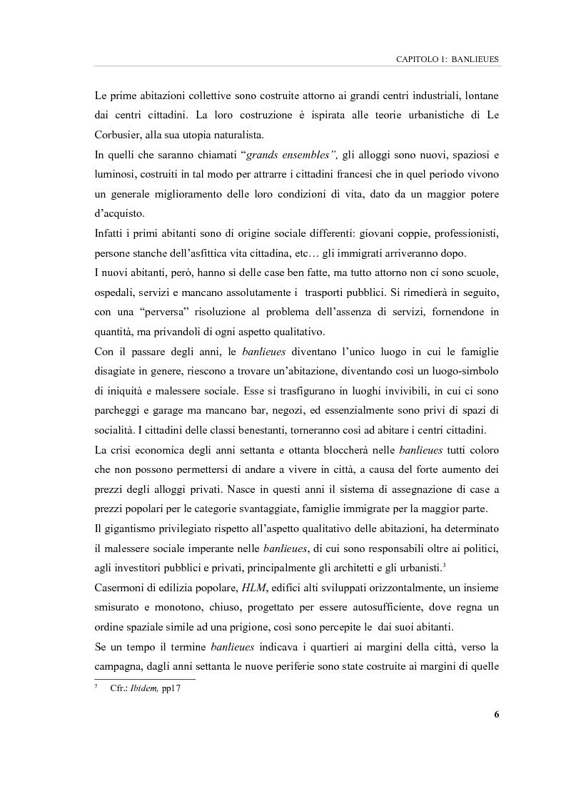 Anteprima della tesi: Banlieues: i luoghi dell'emarginazione, Pagina 6