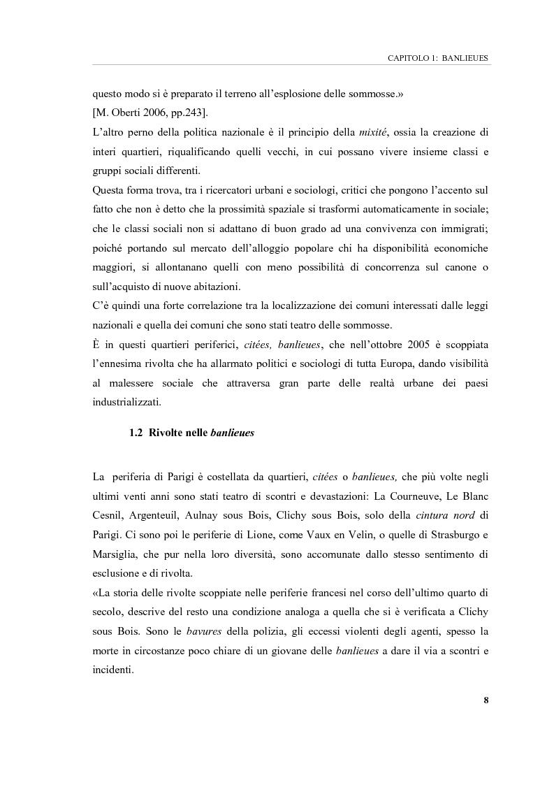 Anteprima della tesi: Banlieues: i luoghi dell'emarginazione, Pagina 8