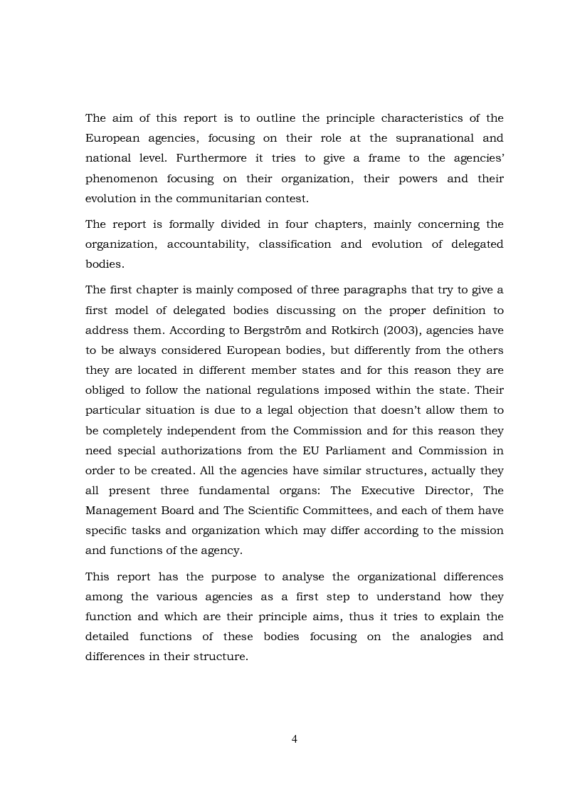 Anteprima della tesi: The European Agencies: An Analysis of Their Characteristics and Evolution in the Communitarian Framework, Pagina 2