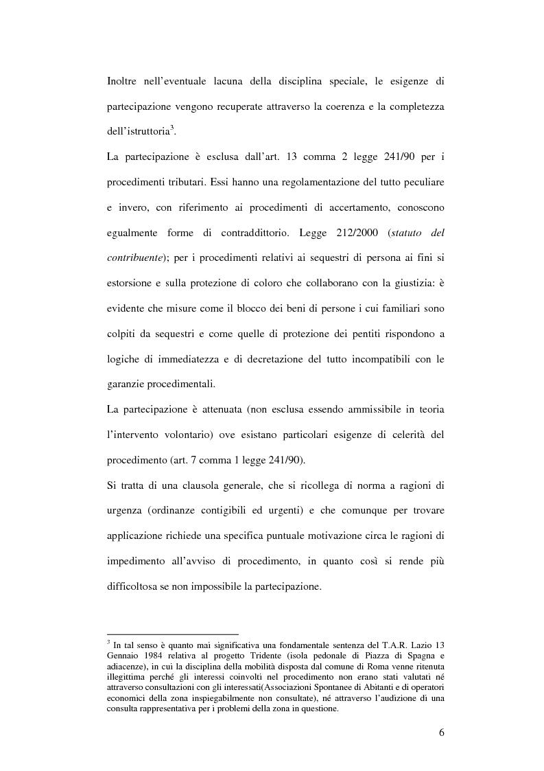 Anteprima della tesi: La partecipazione al procedimento amministrativo, Pagina 4
