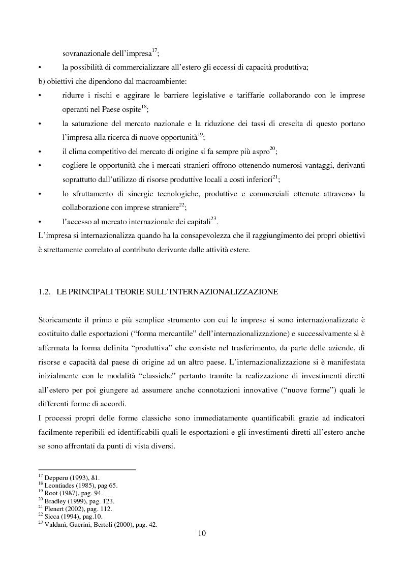 Anteprima della tesi: Le strategie di internazionalizzazione: il licensing in PH&T, Pagina 8