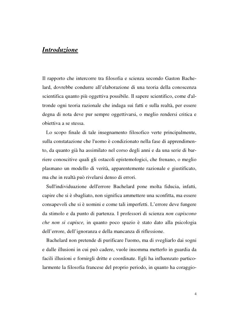 Anteprima della tesi: Il rapporto filosofia-scienza in Gaston Bachelard, Pagina 1