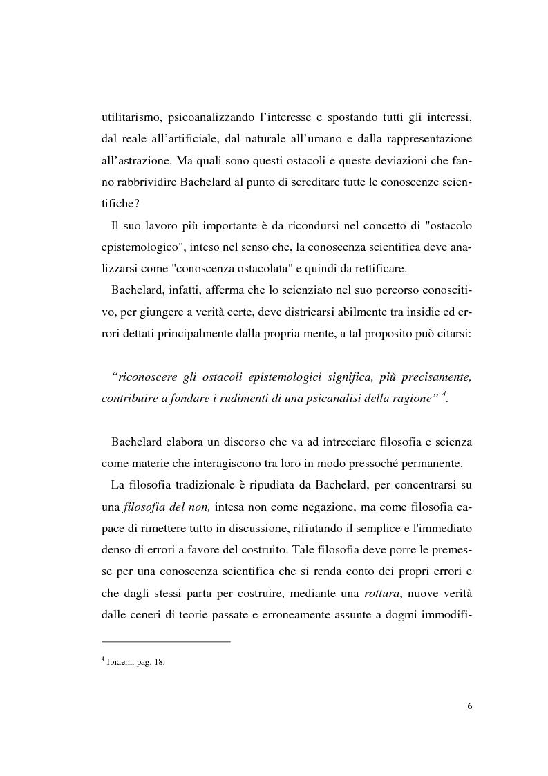 Anteprima della tesi: Il rapporto filosofia-scienza in Gaston Bachelard, Pagina 3