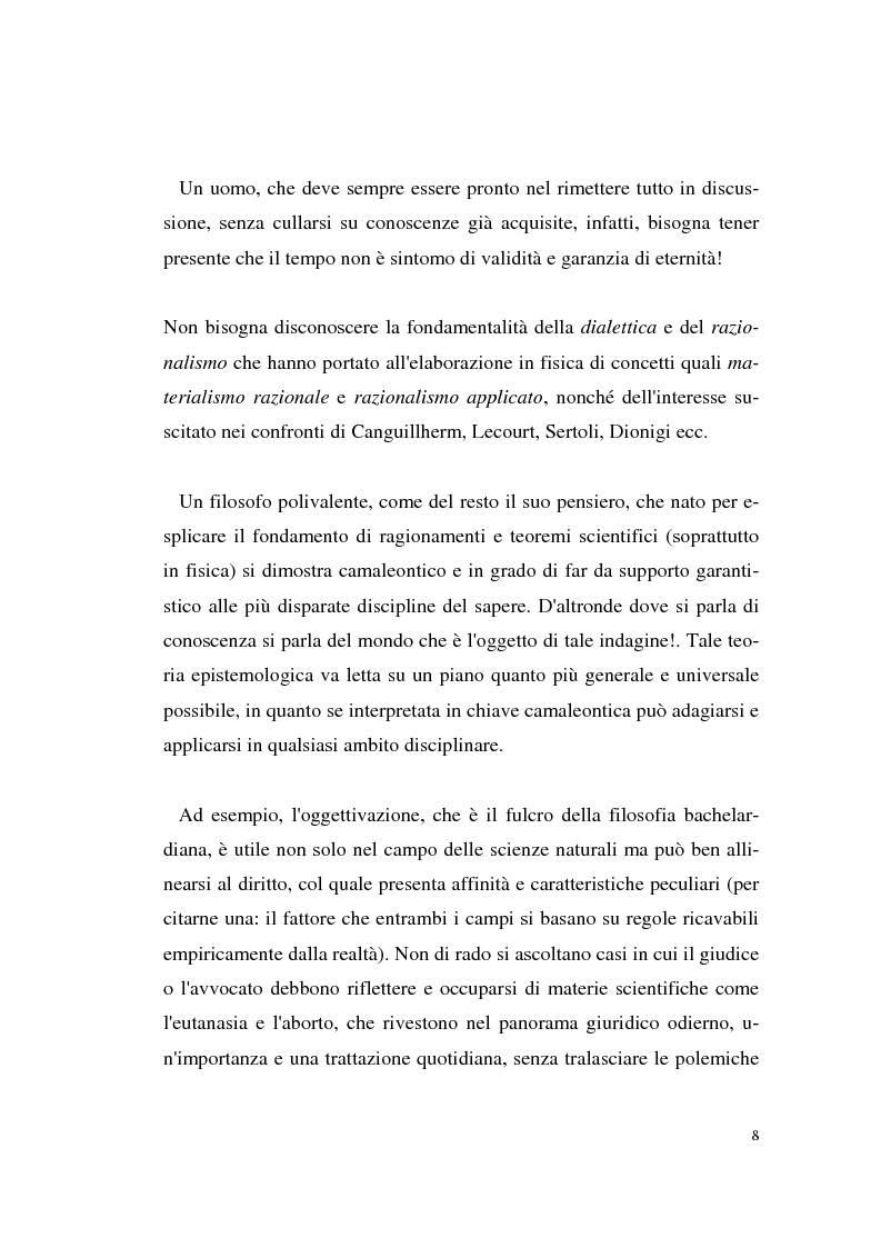 Anteprima della tesi: Il rapporto filosofia-scienza in Gaston Bachelard, Pagina 5