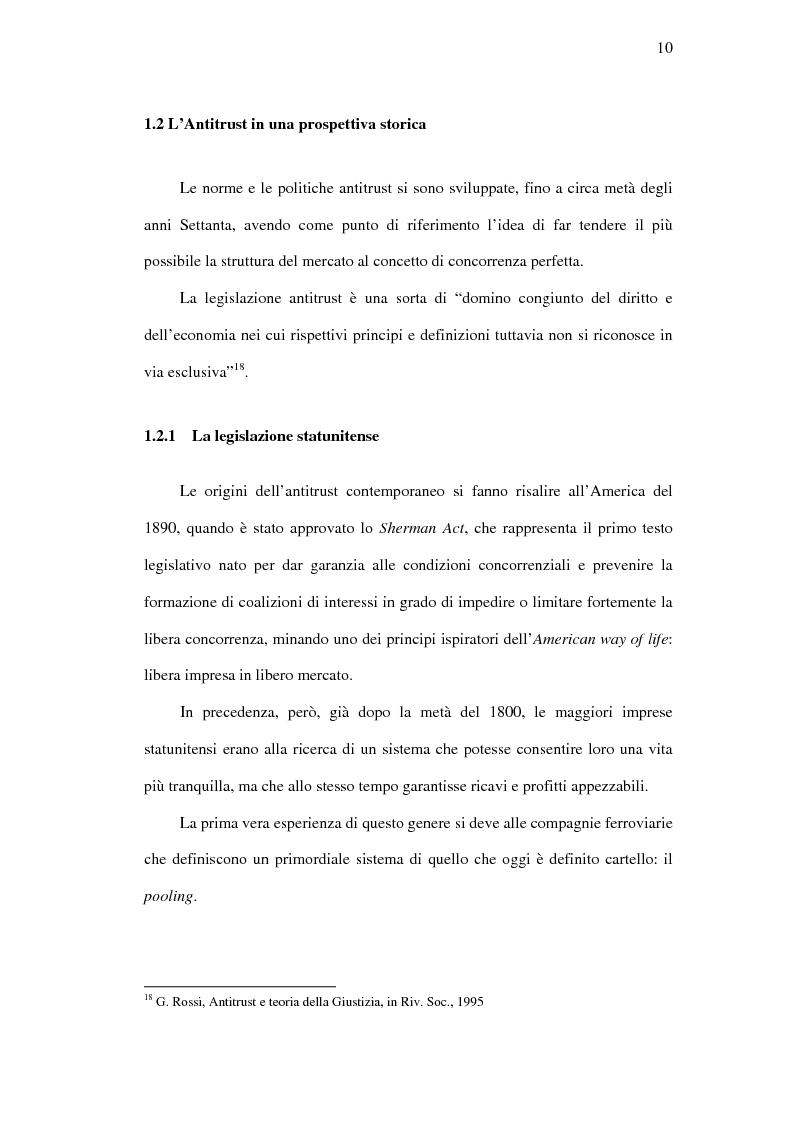 Anteprima della tesi: I mercati rilevanti tra ricostruzione economica e sindacato giurisdizionale, Pagina 10