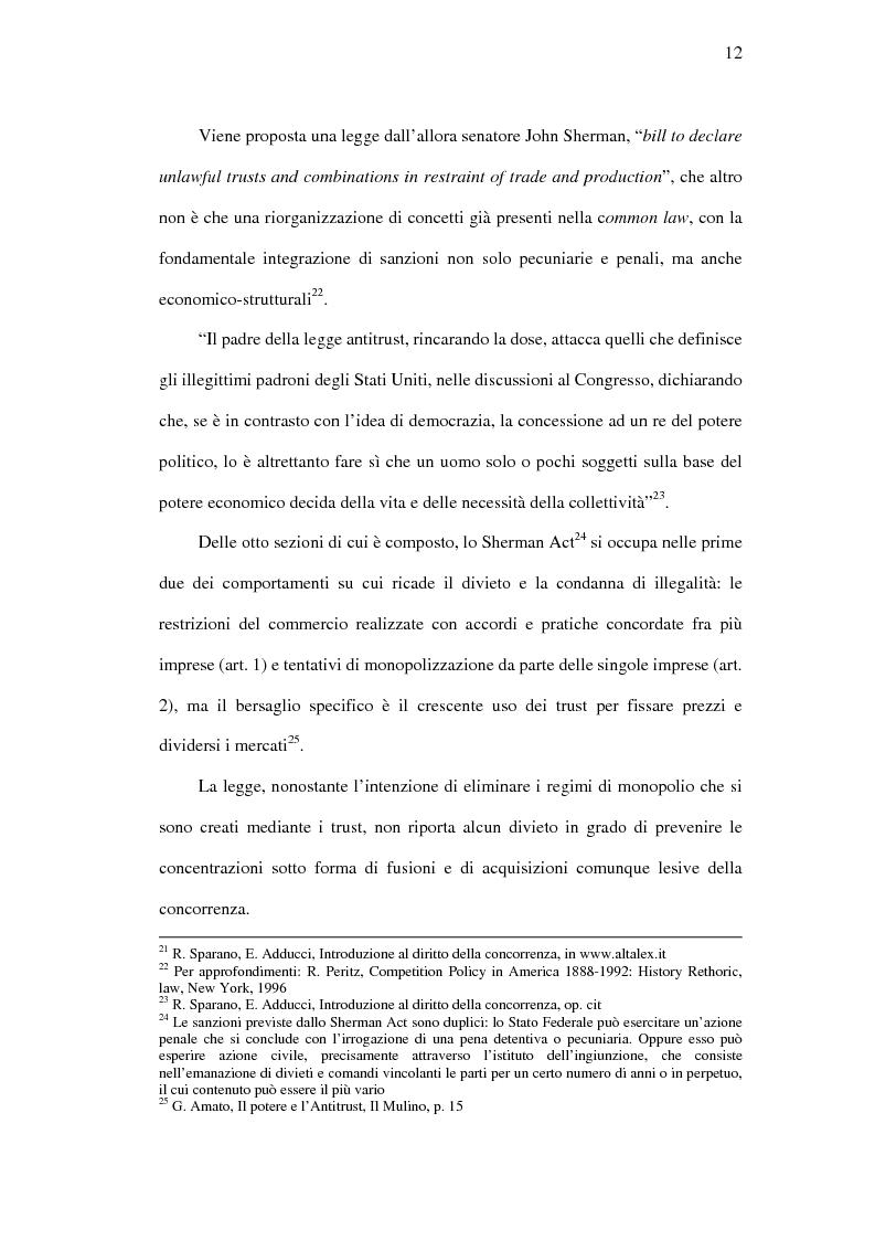 Anteprima della tesi: I mercati rilevanti tra ricostruzione economica e sindacato giurisdizionale, Pagina 12