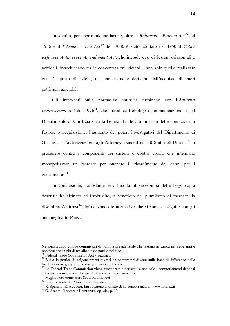 Anteprima della tesi: I mercati rilevanti tra ricostruzione economica e sindacato giurisdizionale, Pagina 14