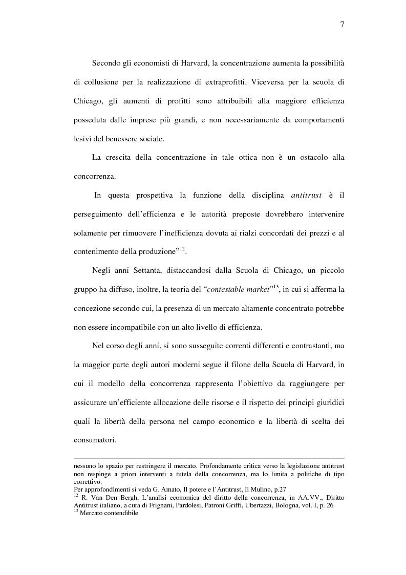 Anteprima della tesi: I mercati rilevanti tra ricostruzione economica e sindacato giurisdizionale, Pagina 7