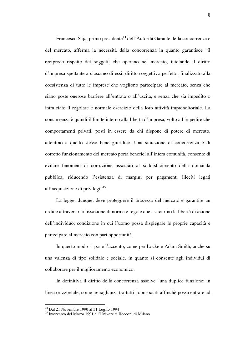 Anteprima della tesi: I mercati rilevanti tra ricostruzione economica e sindacato giurisdizionale, Pagina 8