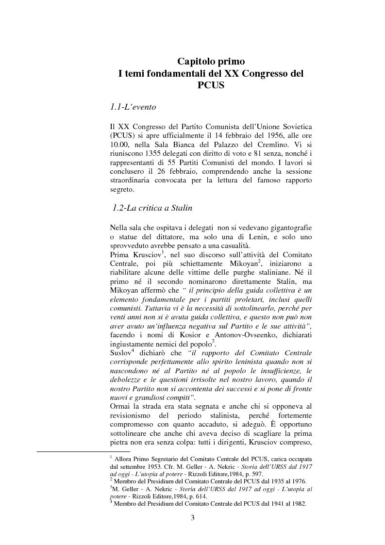 Anteprima della tesi: La politica estera dell'Unione Sovietica e il XX Congresso del PCUS, Pagina 2