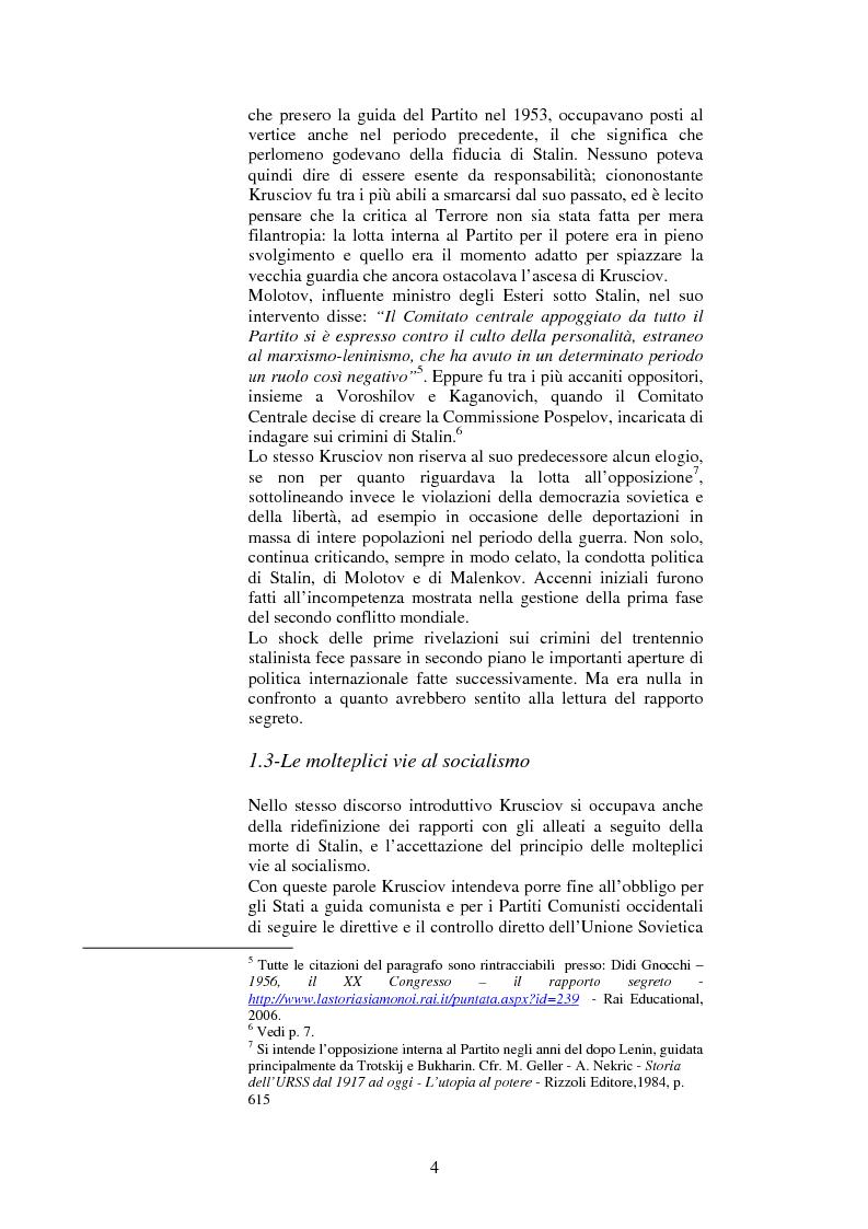 Anteprima della tesi: La politica estera dell'Unione Sovietica e il XX Congresso del PCUS, Pagina 3