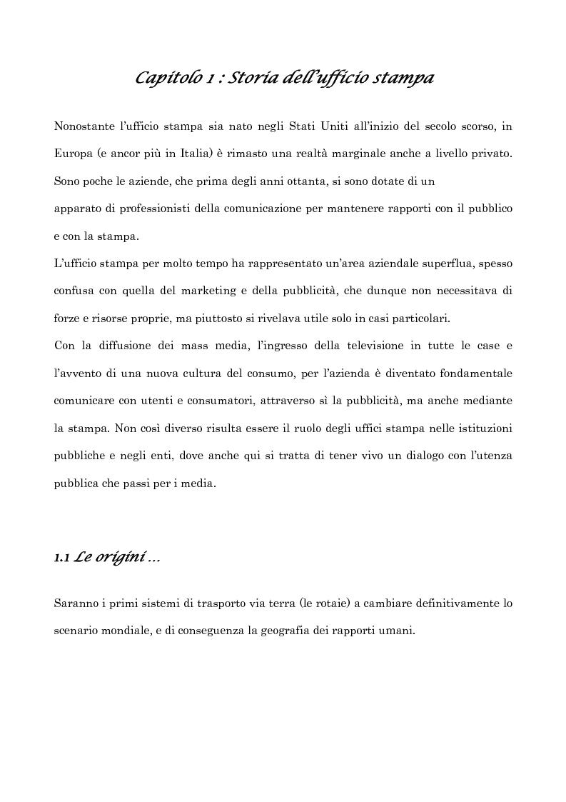Anteprima della tesi: Informazione e uffici stampa. Tra verità e persuasione, Pagina 5