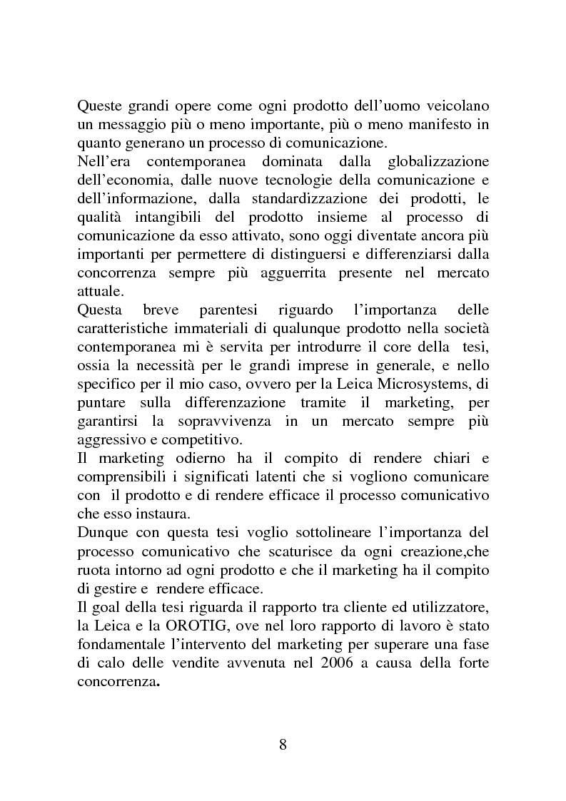 Anteprima della tesi: Marketing e comunicazione nelle imprese ad alta tecnologia. Caso: co-marketing tra Leica Microsystems e Orotig., Pagina 2