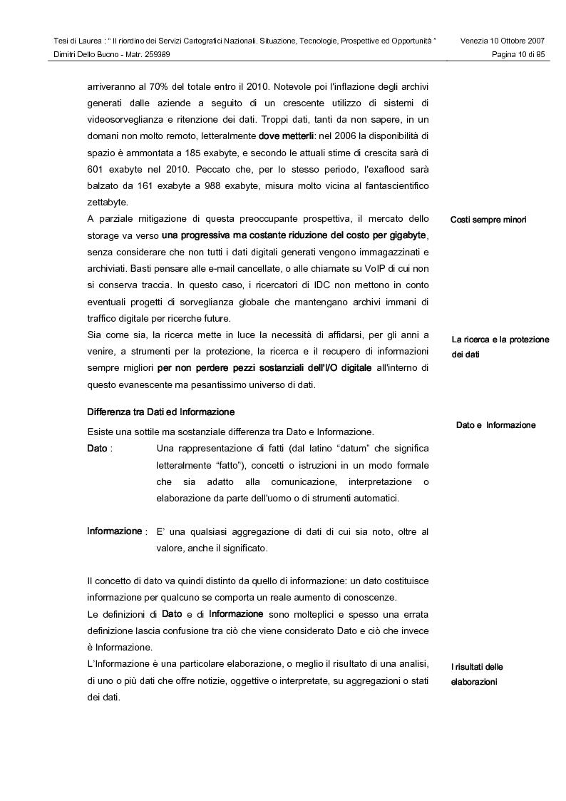 Anteprima della tesi: Il riordino dei Servizi Cartografici Nazionali. Situazione, tecnologie, prospettive ed opportunità., Pagina 8