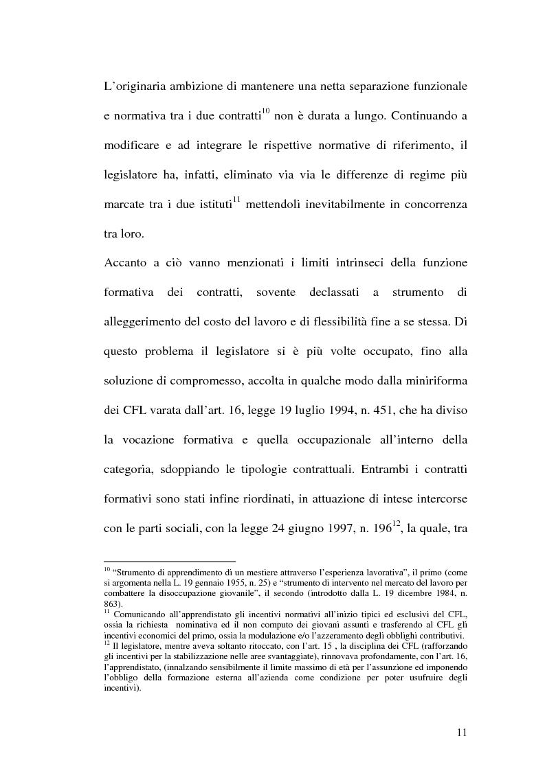 Anteprima della tesi: Contratti formativi e mercato del lavoro, Pagina 10