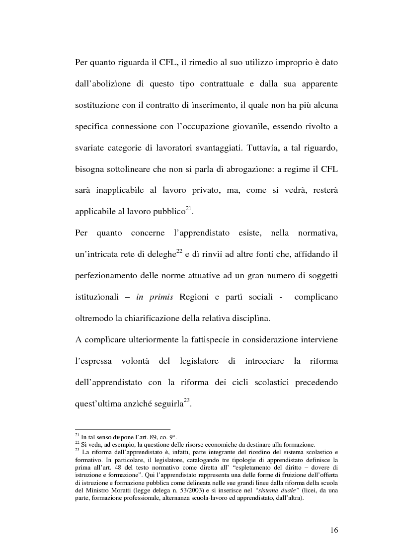Anteprima della tesi: Contratti formativi e mercato del lavoro, Pagina 15