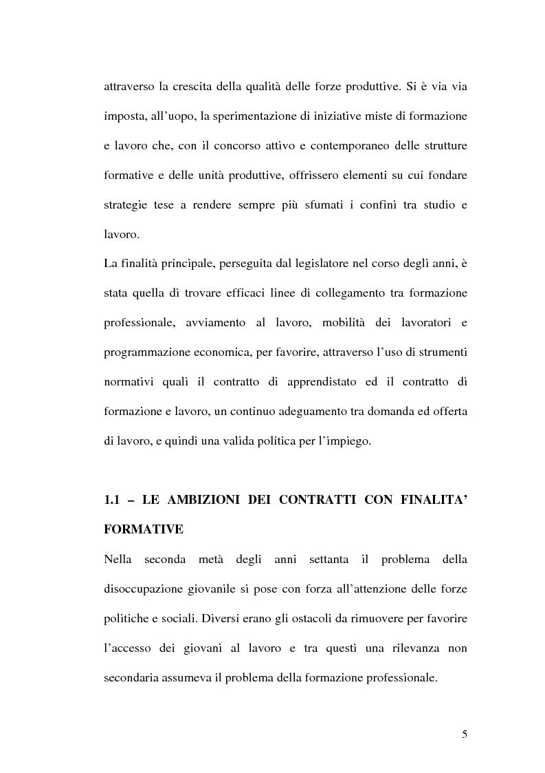 Anteprima della tesi: Contratti formativi e mercato del lavoro, Pagina 4