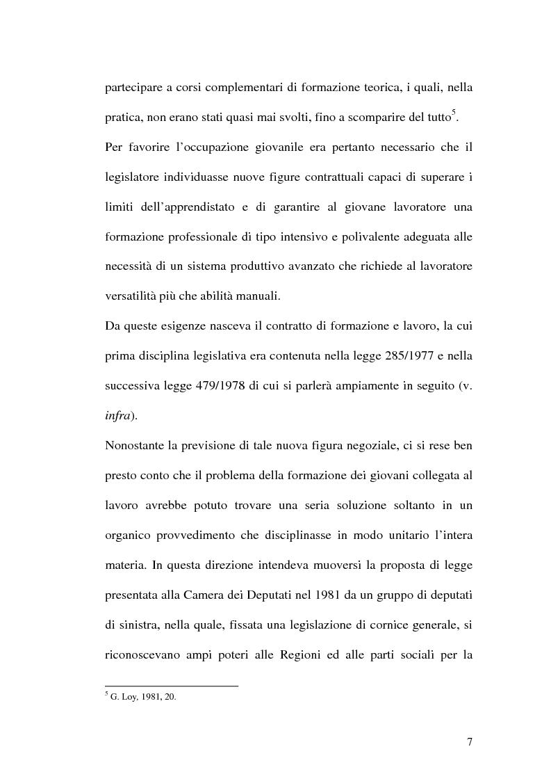 Anteprima della tesi: Contratti formativi e mercato del lavoro, Pagina 6