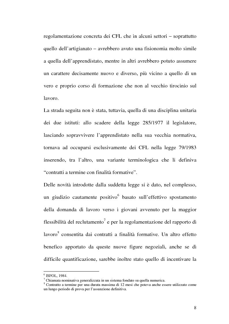 Anteprima della tesi: Contratti formativi e mercato del lavoro, Pagina 7