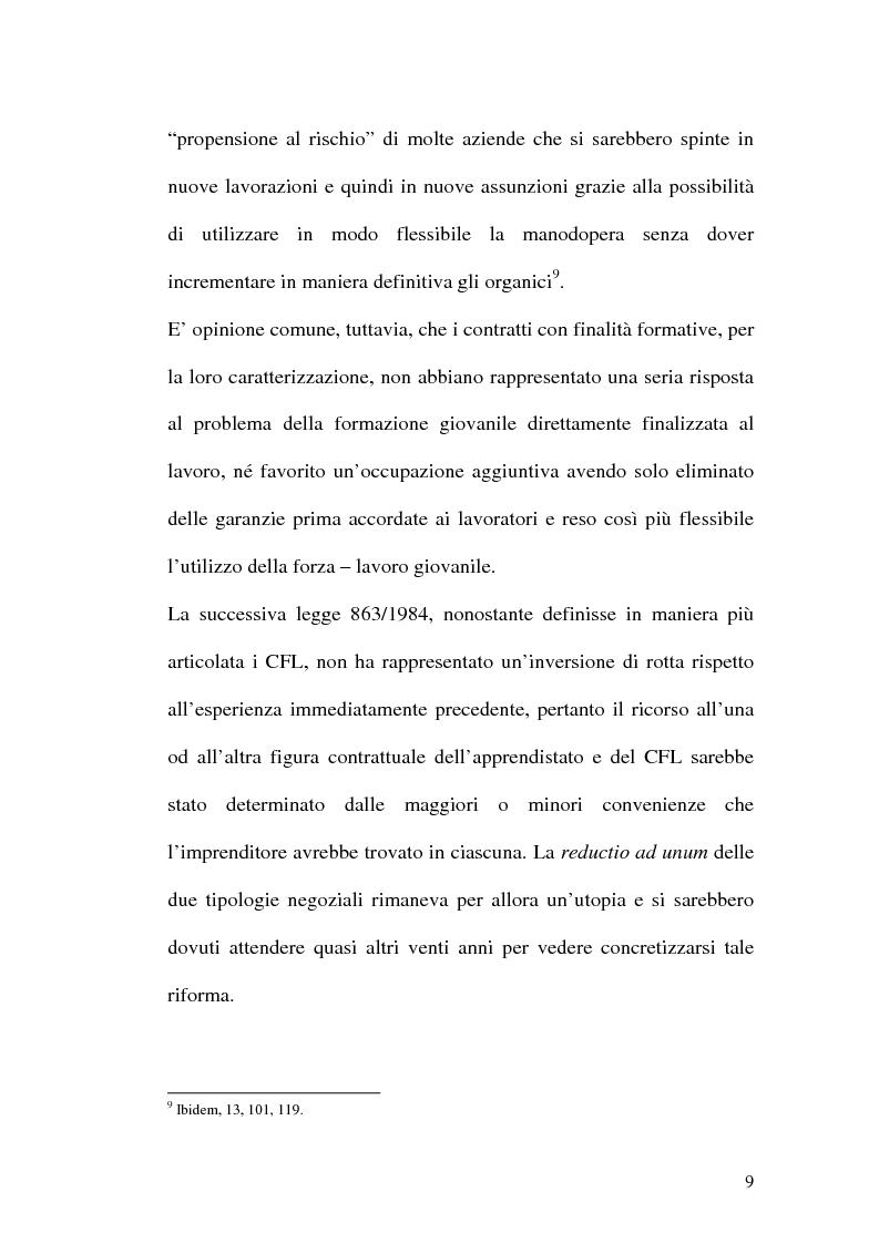 Anteprima della tesi: Contratti formativi e mercato del lavoro, Pagina 8