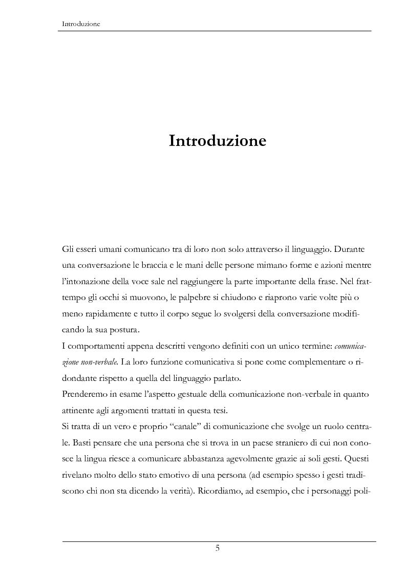 Anteprima della tesi: Analisi e sintesi dei gesti comunicativi per agenti conversazionali, Pagina 1