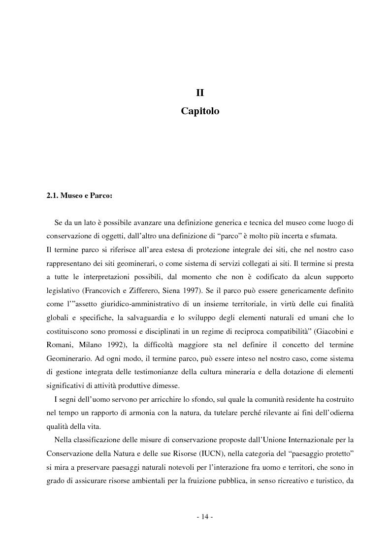 Anteprima della tesi: Comunicare un patrimonio: il Parco Geominerario Storico e Ambientale della Sardegna, Pagina 11
