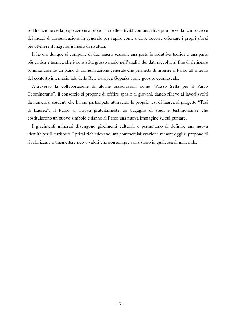 Anteprima della tesi: Comunicare un patrimonio: il Parco Geominerario Storico e Ambientale della Sardegna, Pagina 4