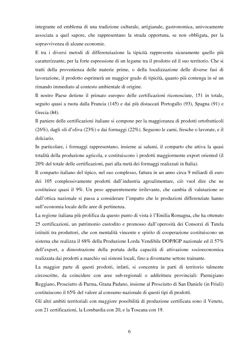 Anteprima della tesi: La valorizzazione dei prodotti tipici. Le potenzialità e gli strumenti a sostegno del comparto nel Sannio, Pagina 2