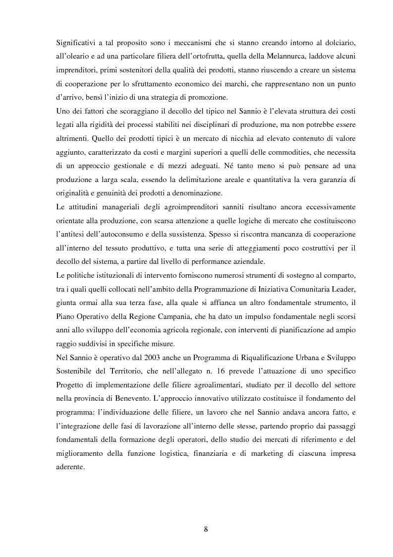 Anteprima della tesi: La valorizzazione dei prodotti tipici. Le potenzialità e gli strumenti a sostegno del comparto nel Sannio, Pagina 4