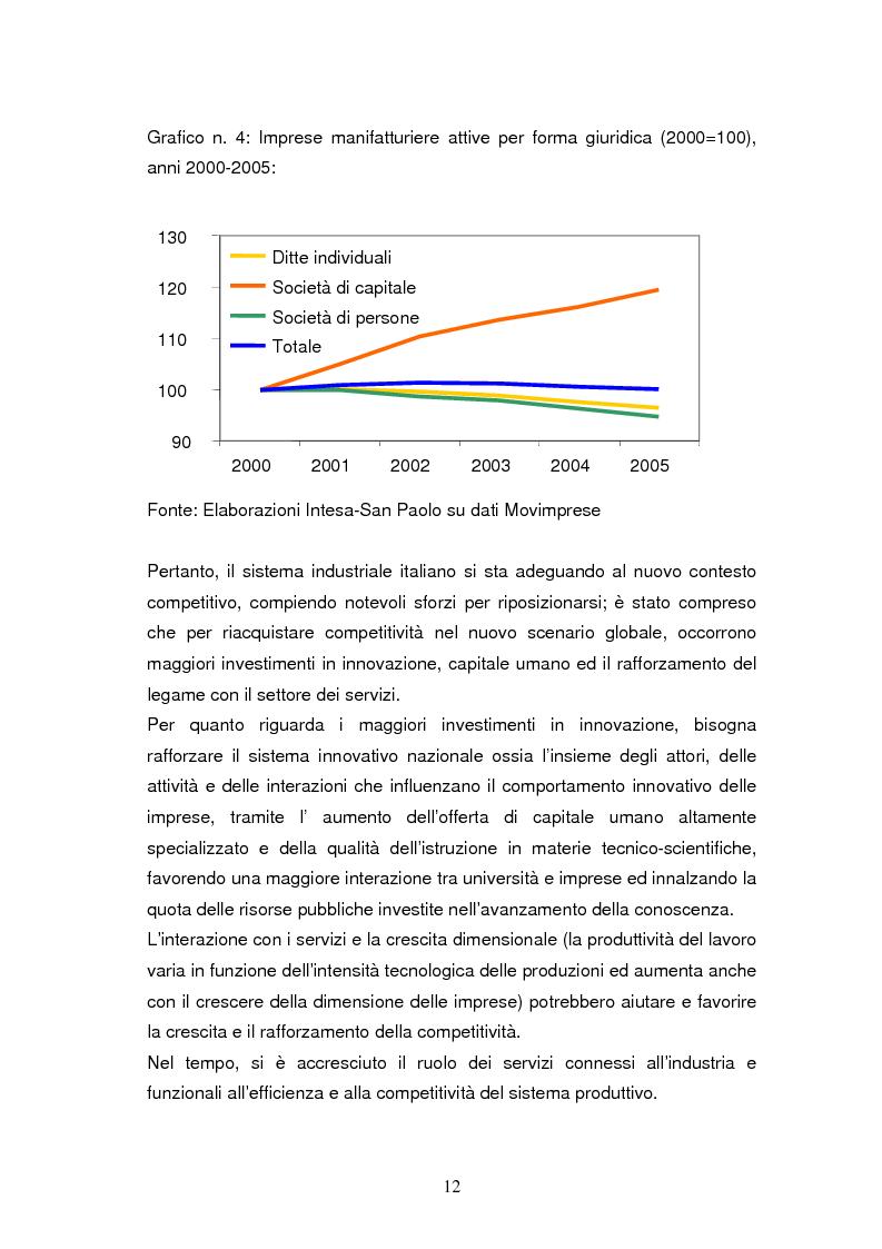 Anteprima della tesi: Le dinamiche di terziarizzazione dell'economia: un'indagine comparata sulla Regione Umbria, Pagina 10